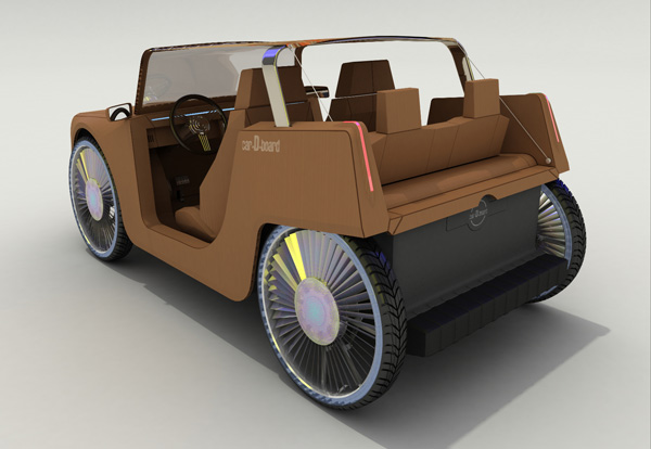 A Concept For A Lightweight Amp Disposable Cardboard Car