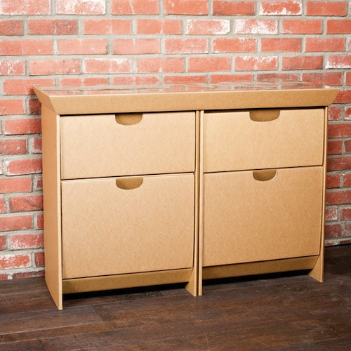 Cardboard furniture for your temporary needs for Temporary furniture
