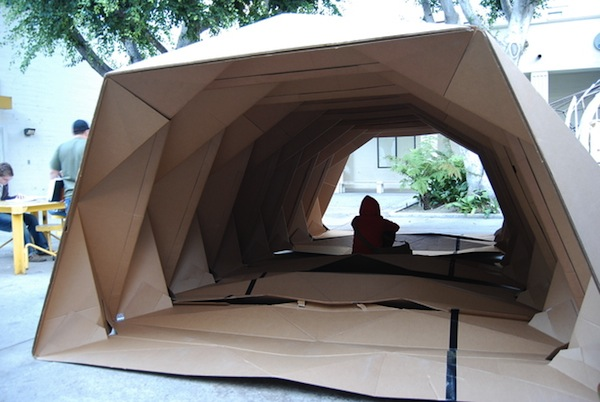 liam thinks origami inspired cardboard provides portable homes