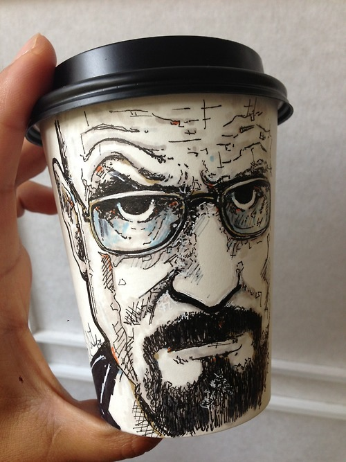 Delighful Paper Coffee Cup Designs Detailed Illustrations On Cups Throughout Inspiration Decorating