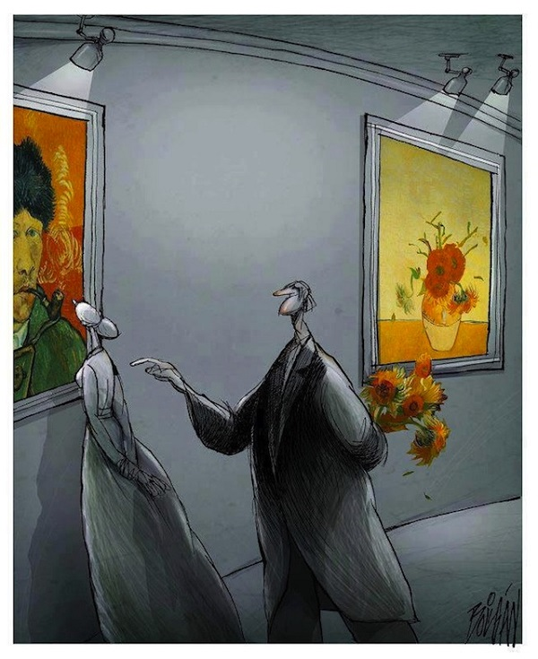 Surreal, Thought-Provoking Cartoons About Love, Loss And Modernism