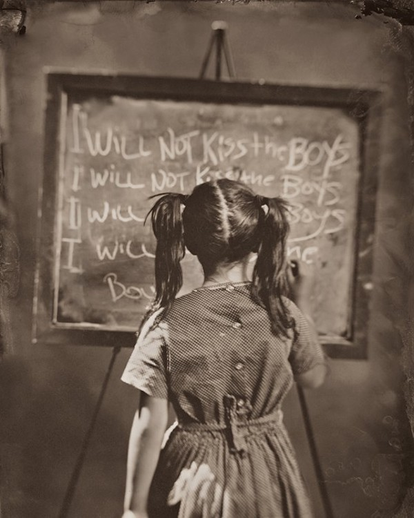 Thought Provoking Vintage Style Images Of Children Writing