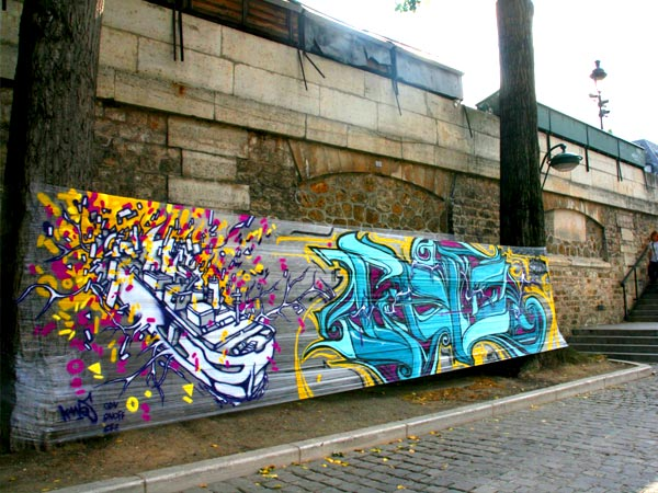 'Wall-Free' Graffiti Spray-Painted Onto Cellophane Instead Of Buildings