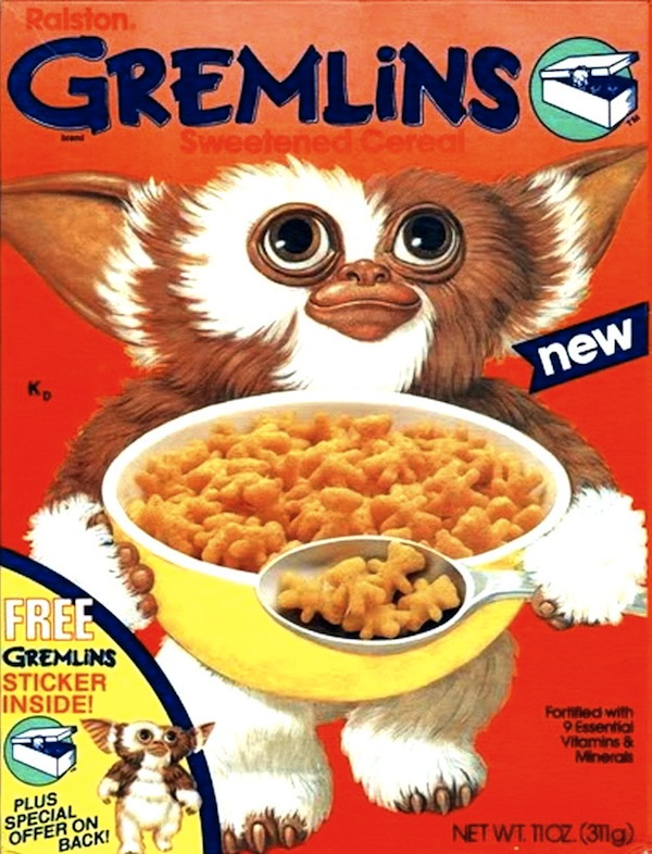 Awesome cereal box designs from the 1980s for American cuisine movie