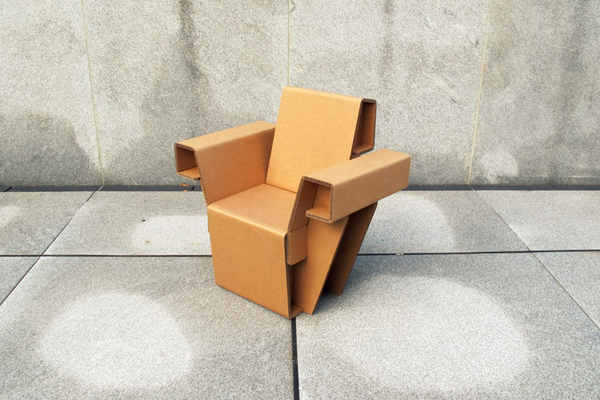 Furniture Sets Made Of And Assembled Out Of Cardboard