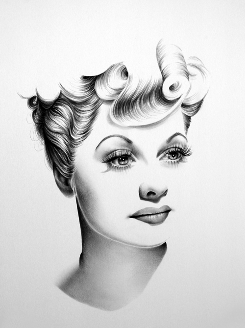 gorgeous halfdrawn portraits of female celebrities