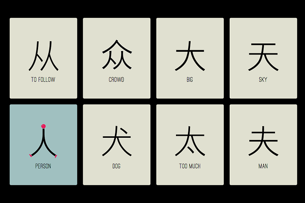 Illustrated characters make learning the chinese language