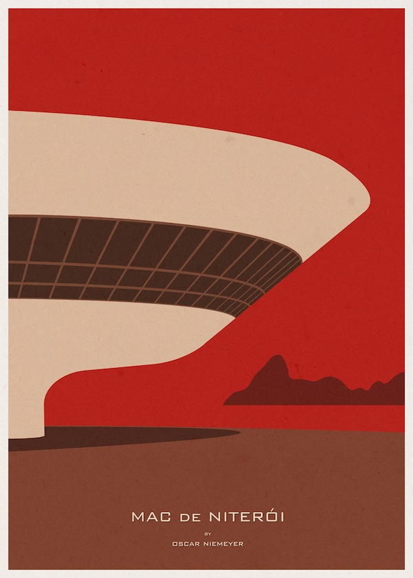 Striking minimalist posters of famous buildings from for Famous minimalist designers