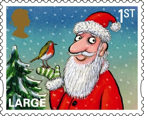 royal mail unveils christmas 2012 stamps by children�s