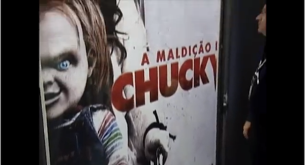 Chucky Of Child S Play Smashes Billboard Chases People