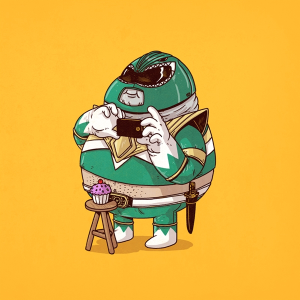 Artist Illustrates Chunky Versions Of Famous Pop Culture