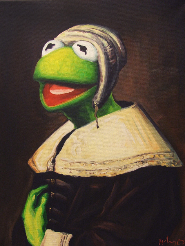 Pop Culture Icons Painted In The Classical Art Style