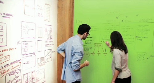 Turn Any Surface Into A Whiteboard With Transparent Paint