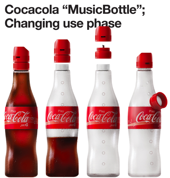 turn empty cocacola bottles into musical instruments