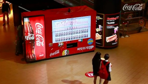 Coca-Cola Vending Machine Rewards Participants For Their