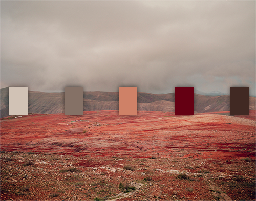 an inspiring blog that matches color palettes to beautiful