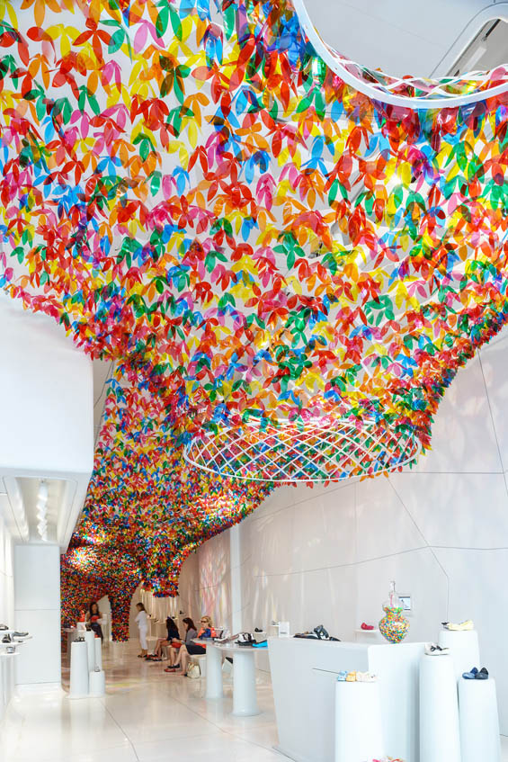 Colorful Installation Of 20 000 Transluscent Flowers Fill
