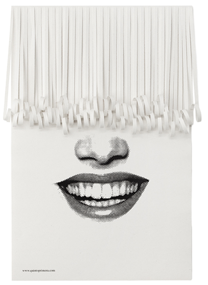 These Posters For A Hair Salon Have Pop Out Paper