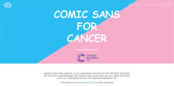 Design A Poster Using Comic Sans In Support Of Cancer