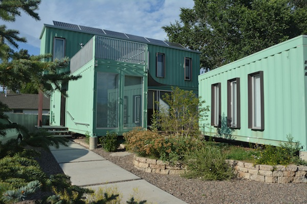 A home in the arizona desert crafted out of six recycled shipping containers - Container homes arizona ...