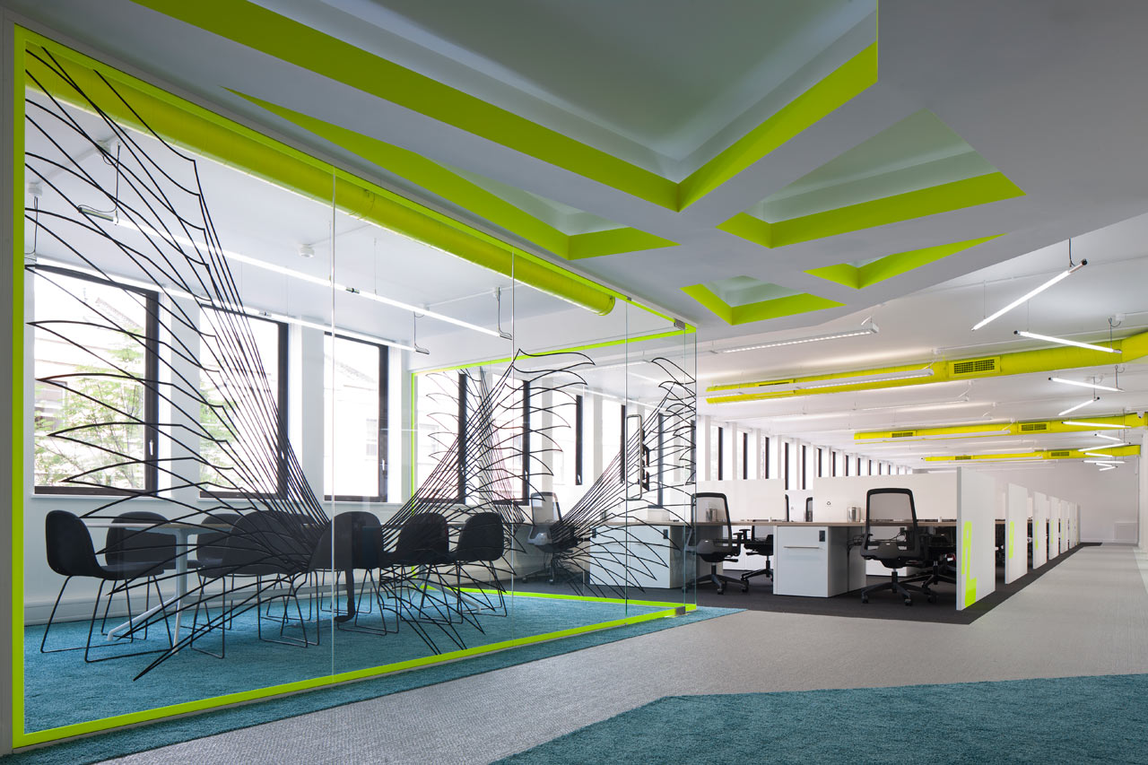 In London An Inspiring Co Working Office That Is Bright