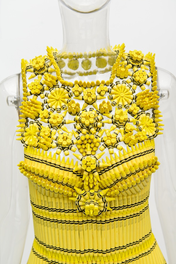 Happy Colored Photos Of Latest Designer Fashion Made Out Of Crayola Crayons