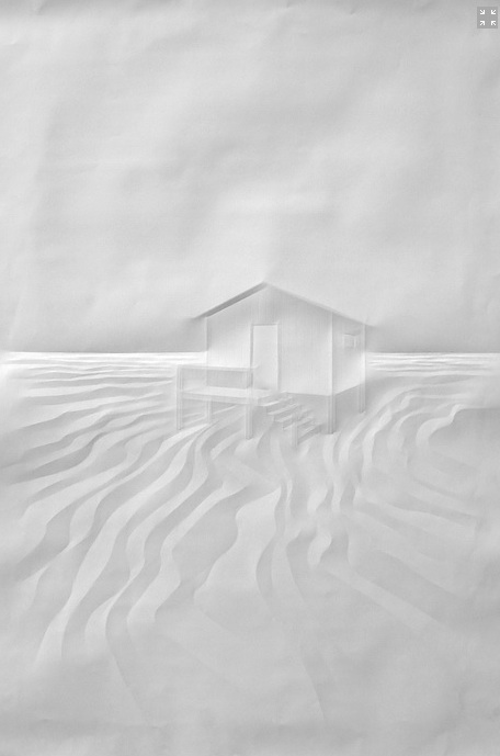 Artist Folds Creases On Paper To Form Architectural