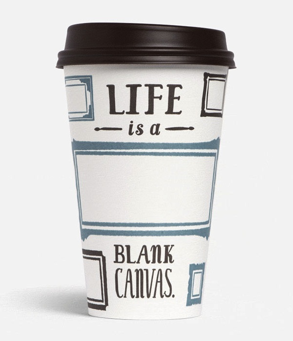 Coffee Cups Feature Inspiring Messages About Life - DesignTAXI.
