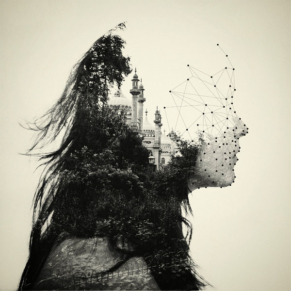 Beautiful Surrealist Double Exposure Shots Mash Up People