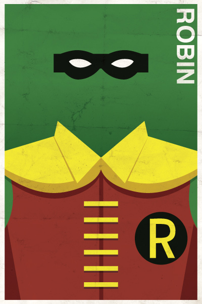 Beautifully Crafted Vintage-Finish Posters Featuring The Characters Of DC Comics