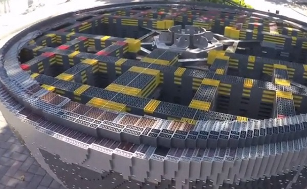 at legoland  a giant  u2018death star u2019 replica made with
