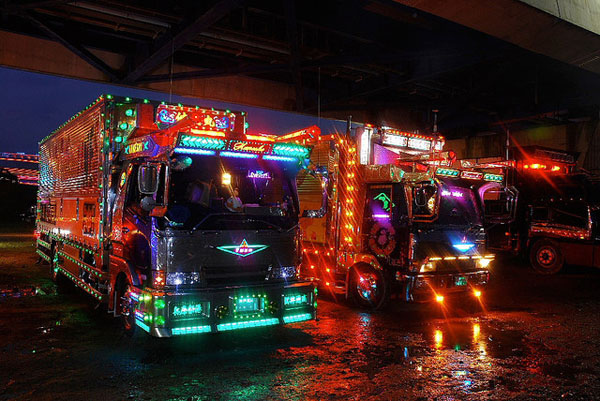 In Japan, Drivers Decorate Their Trucks With Lots Of