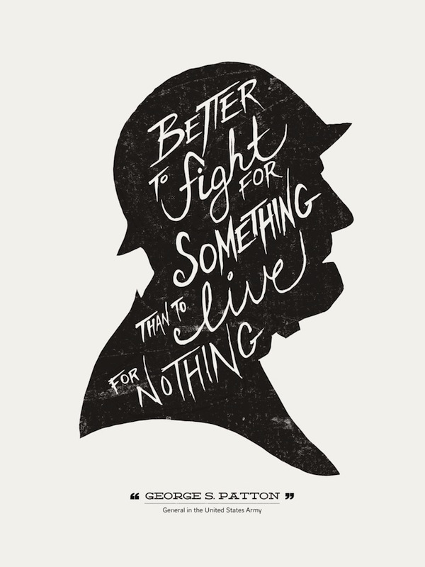 Hand lettered typographic posters of quotes from famous people designtaxi com