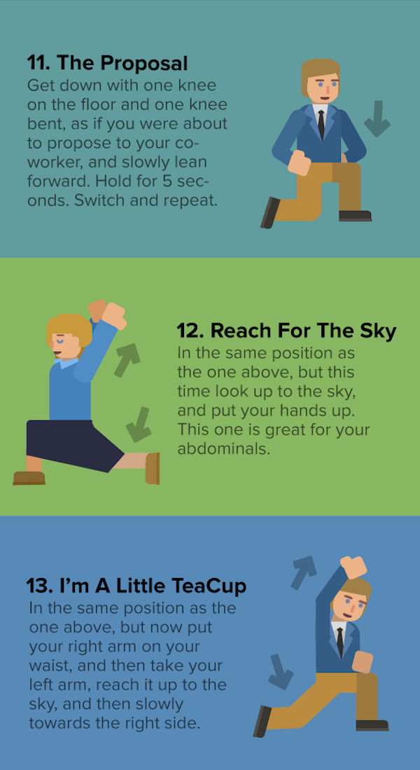Infographic 17 Desk Stretches That Might Save Your Life