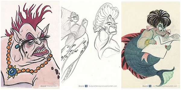 Disney Character Concept Design : Early concept artworks and sketches of disney characters