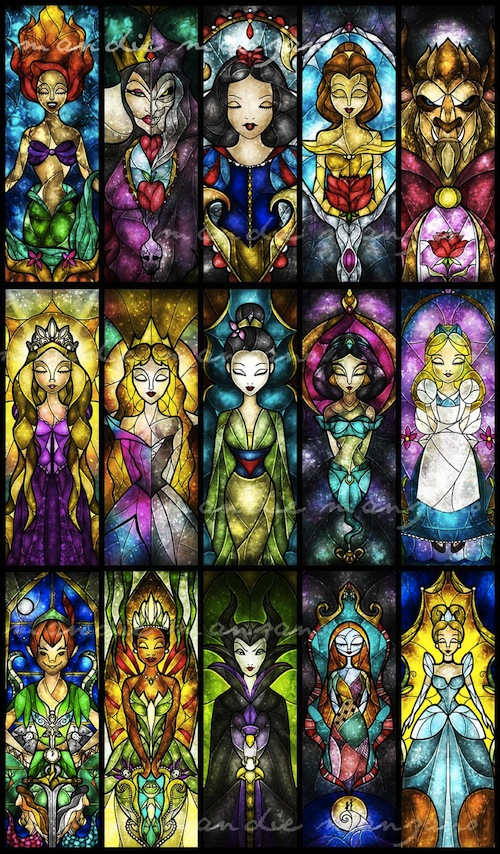Disney Princesses And Other Characters Get The Stained