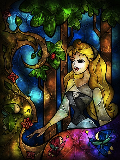 Disney Princesses And Other Characters Get The Stained Glass