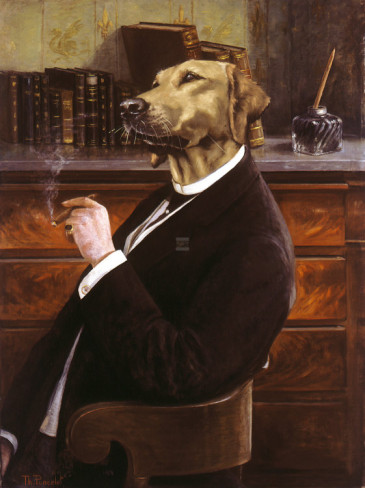 amusing portraits of aristocrats with dogs heads