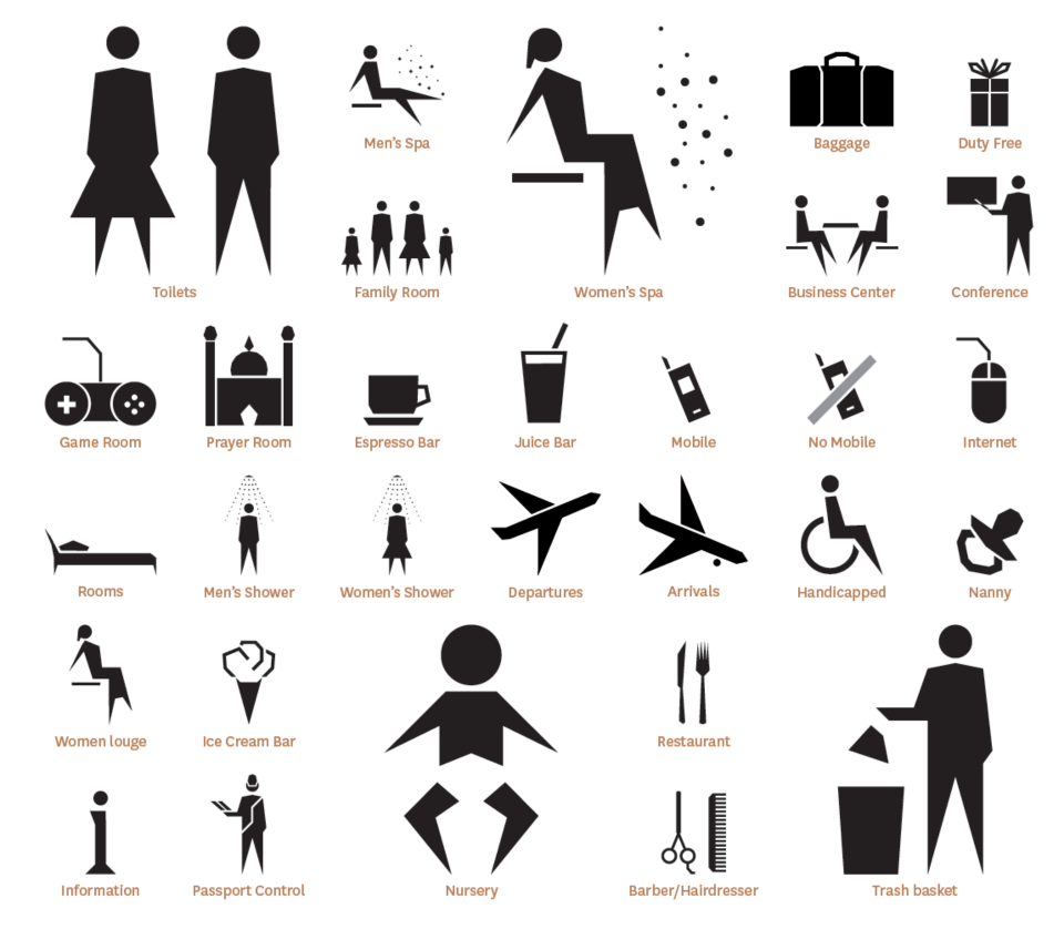 Brilliantly Designed Pictogram Series For Doha's New