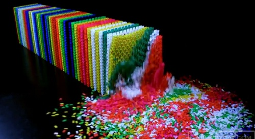 60,000 Domino Tiles Topple In A Wonderful Display Of Color And ...