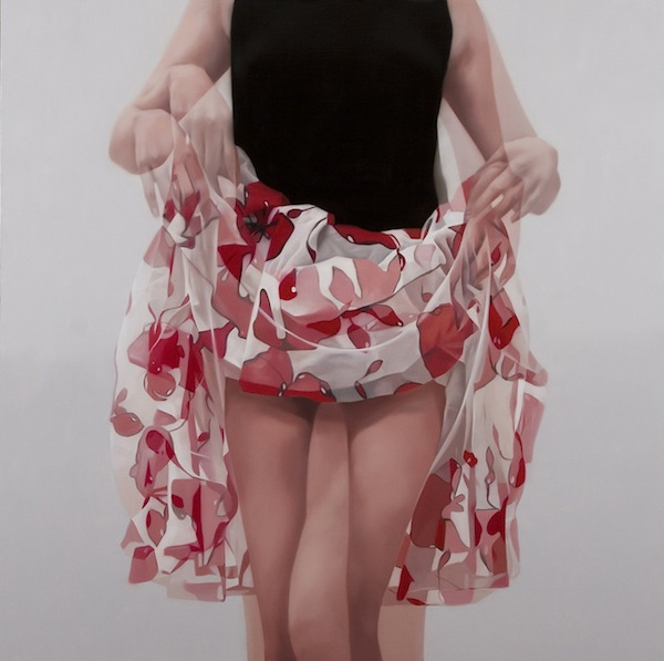 Sensual, Photo-Realistic 'Double Exposure' Paintings