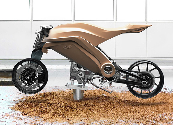 An Imagined Motorbike Concept Of A Ducati And Audi Collaboration
