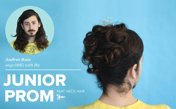 LOL: Men With Long Hair Get Fancy Lady Updos