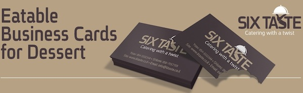 Catering company creates tasty edible business cards for dessert click to view full image reheart Image collections