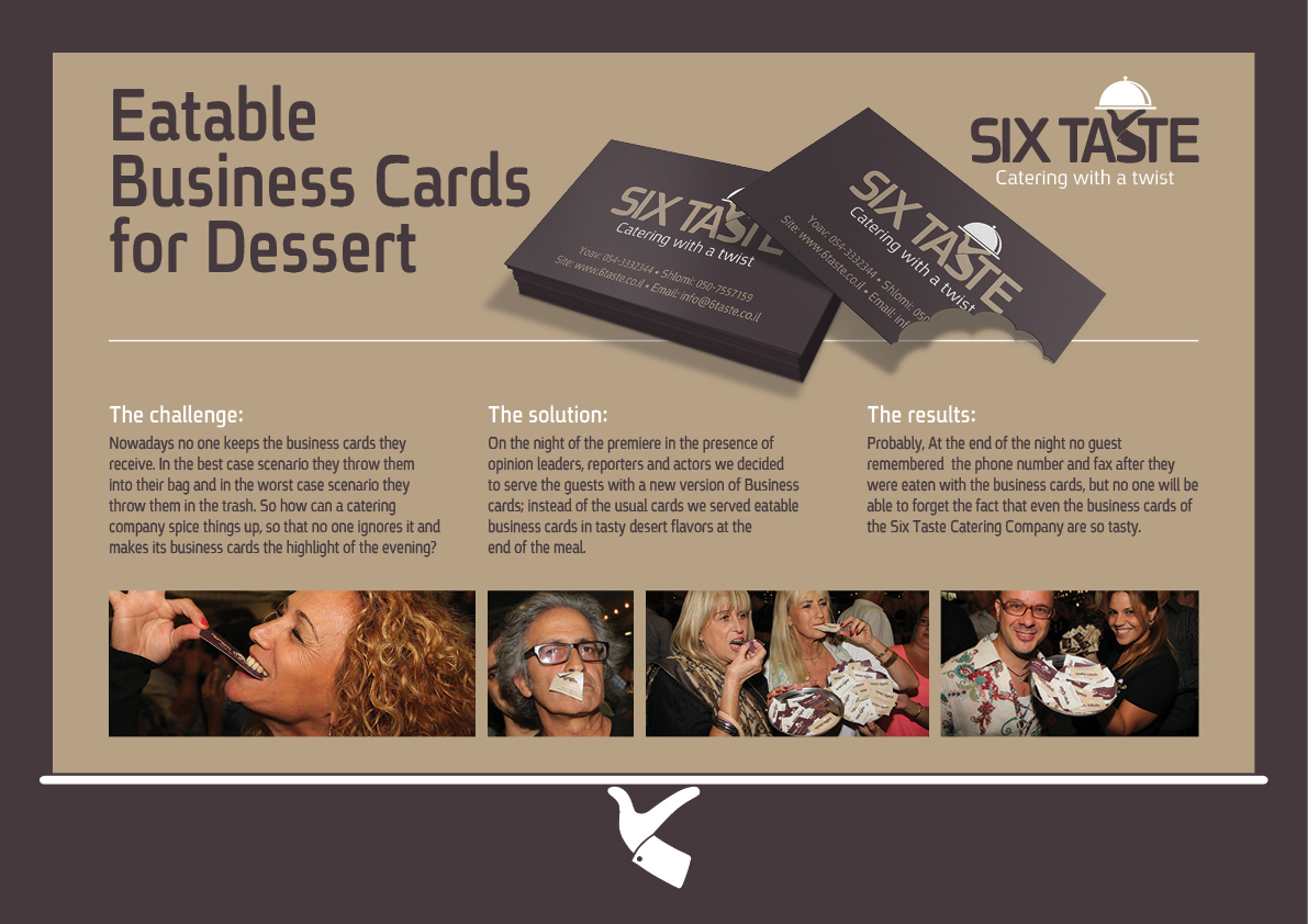 Catering Company Creates Tasty Edible Business Cards For Dessert ...
