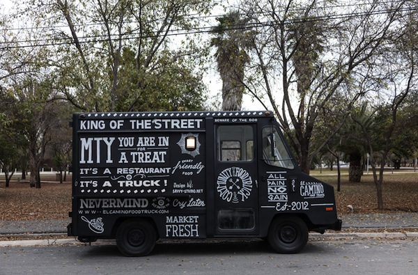 A Food Truck Branded With Hand Painted Vintage Inspired Typography