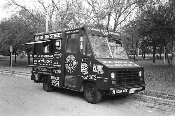A Food Truck Branded With Hand Painted Vintage Inspired
