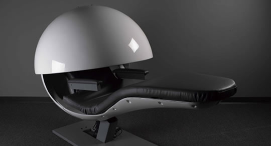 This Sleek Futuristic Napping Pod Lets You Snooze In