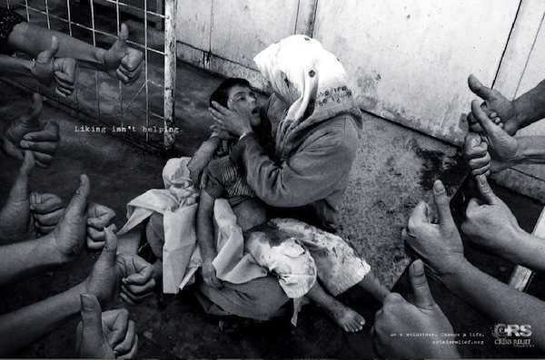 Gut-Wrenching Images Remind Us That Facebook 'Likes' Don't Help A Cause