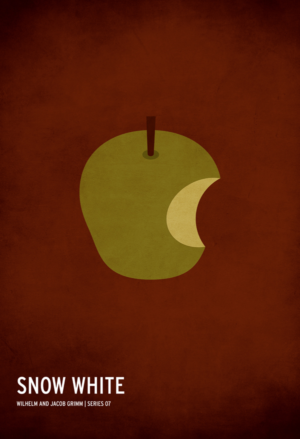 Minimalist Fairy Tale Book Covers : Designer creates minimal posters for fairy tales